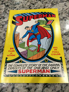 SUPERMAN #1 VF-NM *MASTERPIECE ED REPRINT* Never read White pages See scans