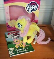 My Little Pony Fluttershy Story Book + Soft Pony Cuddly Toy Kids Gift New
