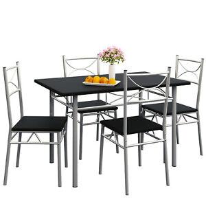 Esstisch Küchentisch mit 4 Stühlen Esszimmergruppe Essgruppe Tisch Stuhl Set