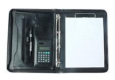 Black A4 Portfolio Presentation Organiser Folder Folio Faux Leather Ring Binder