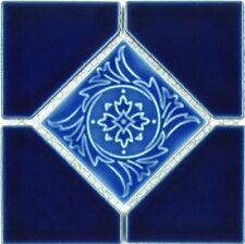 "Fujiwa Porcelain Swimming Pool Waterline Tile - AMBON-7 COBALT BLUE 6"" X 6"""