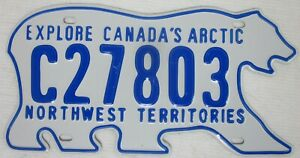 NORTHWEST TERRITORIES Polar Bear Canada/Canada's  Arctic licence/number plate