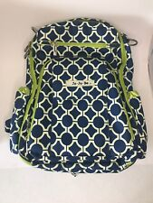 JuJuBe Back Pack Diaper Bag Green And Blue Back Pack W/ Additional Changing Pad