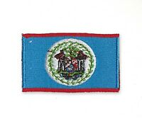 Belize National Country Flag Iron Sew on Embroidered Patch