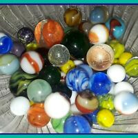 Beautiful Antique Glass Marbles Lot Vintage Peltier Akro Agate Christensen Mini