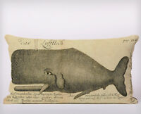 Whale Illustration Long Cushion Covers Pillow Cases Home Decor or Inner