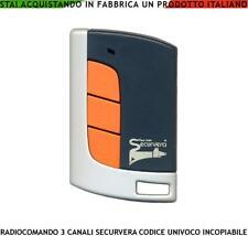 TELECOMANDO RADIOCOMANDO SECURVERA SBECO 3 CANALI FREQ. 433,92 MHZ ROLLING CODE