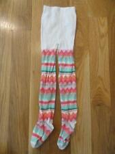 GYMBOREE WILD FOR HORSES PINK GREEN SILVER STRIPED TIGHTS 3 4 EUC GIRL