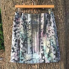 NEW Catherine Maladrino Skirt // Iridescent Rainbow Tree Nature Scene// 4