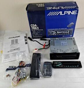 ALPINE CDA-7863 In dash receiver AM/FM CD Remote Disc Changer New in Opened Box