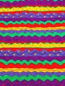 """Bright Moda Striped Cotton Quilting Fabric 55 1/2"""" x 22 1/4"""" 100% Cotton Fabric"""