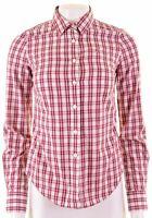 JACK WILLS Womens Shirt UK 8 Small Multicoloured Check Cotton Oversized FU22