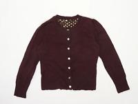 Laura Ashley Womens Size 12 Burgundy Cardigan (Regular)