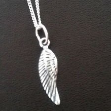 925 Sterling Silver Necklace with Angel wing Pendant 15mm