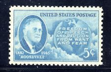 US STAMP #933 --- 5c ROOSEVELT - XF - MINT - GRADED 90