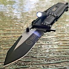 TAC FORCE Spring Assisted Open LED Light EMT EMS Folding Pocket Rescue Knife NEW