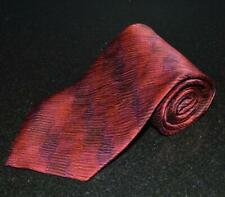 "JHANE BARNES Silk Neck Tie Reds abstract striated Moire wave pattern 58"" 4"""
