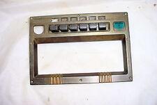 Tube Radio Part Brass Bronze Push Button & dial Face Plate Escutcheon