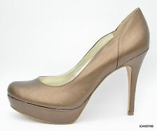 New Guess SANDREA Round Toe Platform Pump Heel Shoes Bronze 10
