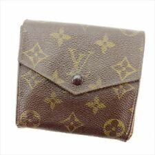 Louis Vuitton Wallet Purse  Monogram Canvas Brown Woman Authentic Used T8329