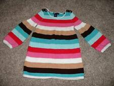 Baby GAP Toddler Girl Striped Sweater Dress Size 2 yrs 2T Fall Winter Pink Brown
