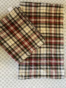 Pottery Barn ( Lot Of 2)  Denver Plaid Pillow Cover 16x26