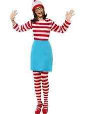 Where's Wally? Wenda Costume,UK Size 4-6,Licensed Fancy Dress