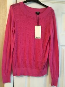 MEXX LADIES PINK LONG SLEEVE TOP SIZE LARGE BRAND NEW WITH TAGS