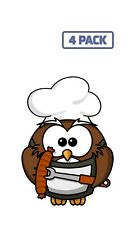 Owl Animal Barbecue Bird Cook Funny Grill Sticker Vinyl Decal 1-436