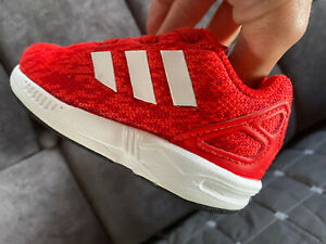 ADIDAS: Red Torsion Baby Trainers - Size 3
