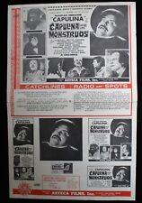CAPULINA CONTRA LOS MONSTRUOS LOBBY CARD PHOTO 1970 Mexican HORROR RARE MONSTERS