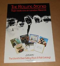 The Rolling Stones Their Roots London Records 1981 Promo Poster 16x23 RARE