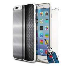 Metal Vent Design Hard Case Cover & Glass For Various Mobiles
