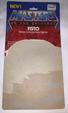 Fisto 1983 Card He-Man Masters Of The Universe MOTU