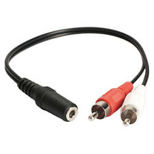 3.5mm 1/8'' Stereo Female TO 2 Male RCA Jack Adapter Aux Audio Y Cable Splitter