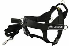 Dean and Tyler Bundle One DT Universal Harness, Rescue Dog, Small (24, 27) Black