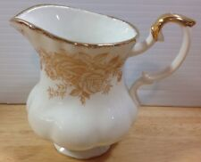 "Royal Albert Old Country Roses Gold Creamer 8 Oz 4"" Floral Fluted Hard To Find!"