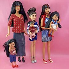 "Barbie ""LEA AND SISTERS"" Gen Girl Mari, Cho Chang, Happy Family + Asian Doll Lot"