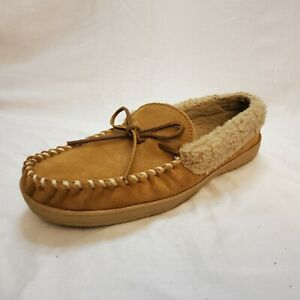 Clarks Leather Moccasins Faux Fur Lining Size 12 Superb Condition Warm Winter
