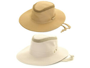 Mens Aussie Bush Hat Vented Outback Safari Lightweight Wide Brim Summer Sun Cap