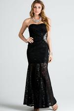 LA SCALA Strapless Lace Dress Size L (RUN SMALLER)