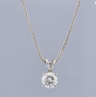 1.02 Carat G/VS1 18ct White Gold Diamond Pendant Necklace