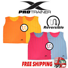 6x REVERSABLE TRAINING BIBS SPORTS soccer football rugby mesh 2 SIZES - New