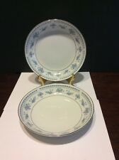 """Seizan Fine China """"Blue Dawn"""" Cereal/Soup Bowl Lot Of 2"""