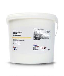 BORAX 2KG SAFE TUB Sodium Tetraborate Decahydrate make slime