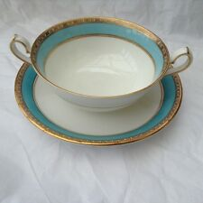 Royal Crown Derby Fifth Avenue Soup bowl and saucer