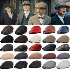 Newsboy Gatsby Cap Mens Peaked Cabbie Flat Ivy Baker Beret Flat Sun Casual Hat