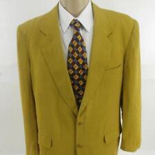 42 R LUCA D'ALTIERI Brown Linen 2 Btn Mens Italy Summer Jacket Sport Coat Blazer