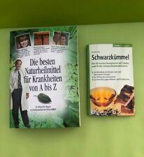 2 verschiedene Bücher über Naturheilmittel und Schwarzkümmel