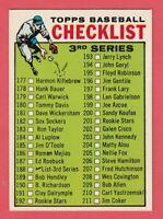 1964 Topps # 188 3rd Series Checklist - NM - Box 734-746